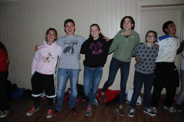 some BITY teens at Fall Kallah friendship circle