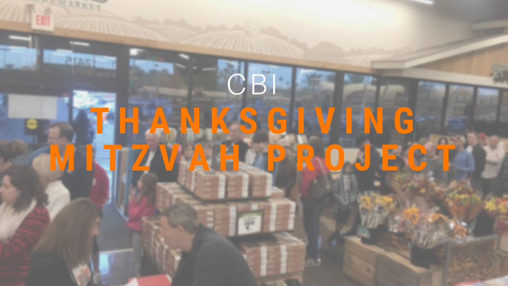 Thanksgiving Mitzvah Project